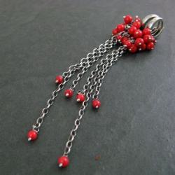 długie,koralowe - Kolczyki - Biżuteria