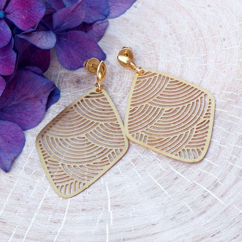 8d7a387e736db kolczyki,wiszące,ażurowe,mosiądz,złoty kolor - Kolczyki - Biżuteria ...