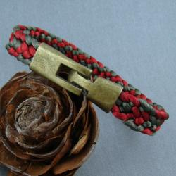 kumihimo,pleciona,satyna - Bransoletki - Biżuteria