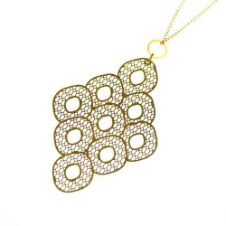 naszyjnik,modny,azurowy,złoty - Naszyjniki - Biżuteria