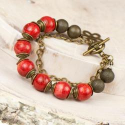 bransoletka,koral,kobieca,czerwona - Bransoletki - Biżuteria