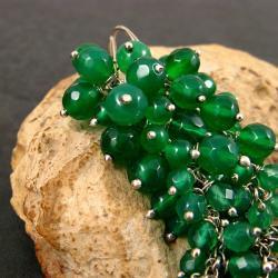 długie,zielone kolczyki - Kolczyki - Biżuteria