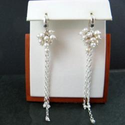 perłowe,długie - Kolczyki - Biżuteria