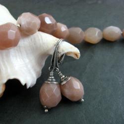 cieliste,klasyczne - Kolczyki - Biżuteria