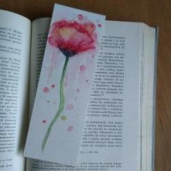 zakładka,kwiaty,mak - Obrazy - Wyposażenie wnętrz