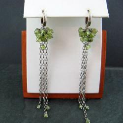 zielone,długie - Kolczyki - Biżuteria