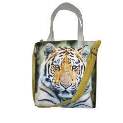 tygrys,dzikie zwierzę,torba z kotem,a4 - Na ramię - Torebki