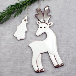 jelonek,zawieszka świąteczna,ozdoba choinkowa - Ceramika i szkło - Wyposażenie wnętrz