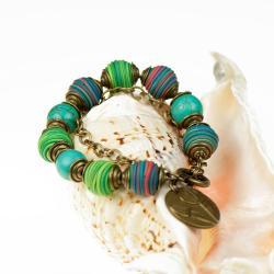 bransoletka,bransoletka z kul howlitów,prezent - Bransoletki - Biżuteria