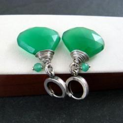 zielone,okazałe - Kolczyki - Biżuteria