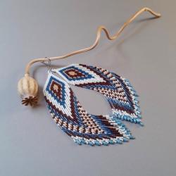 kolczyki indiańskie,długie - Kolczyki - Biżuteria