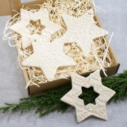 gwiazdka,folk,zawieszka,ozdoba-świąteczna - Ceramika i szkło - Wyposażenie wnętrz
