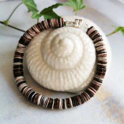 bransoletka,muszla szara,magnes do pracy - Bransoletki - Biżuteria