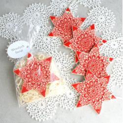 gwiazdka,ozdoby choinkowe,choinka,śnieżynka - Ceramika i szkło - Wyposażenie wnętrz