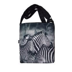zebry,afryka,dzikie zwierzęta,wygodna torebka - Na ramię - Torebki