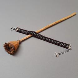 bransoletka tkana na krośnie,z wzorem, - Bransoletki - Biżuteria