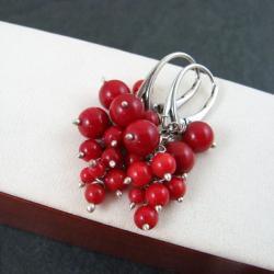 drobne,koralowe - Kolczyki - Biżuteria