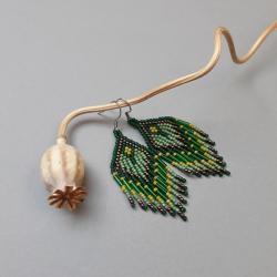 kolczyki indiańskie,z frędzlami - Kolczyki - Biżuteria