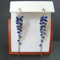 niebieskie,długie - Kolczyki - Biżuteria