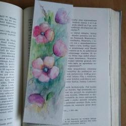 zakładka,kwiaty - Zakładki do książek - Akcesoria