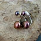 Kolczyki perłowe,drobne