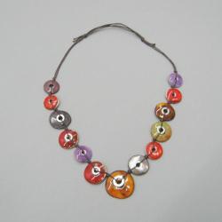 naszyjnik,ceramika,metal,prezent,handmade - Naszyjniki - Biżuteria