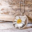 Naszyjniki naszyjnik z żywicy,kwiatów i srebra
