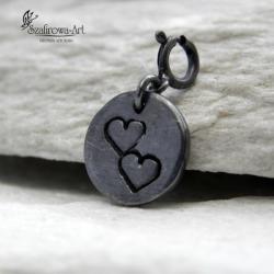 serce,miłość,prezent,srebro,minimalistyczny - Charms - Biżuteria
