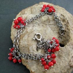 delikatna,koralowa - Bransoletki - Biżuteria