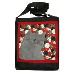 kot,torba z kotem,pojemna torba,kocia torba - Na ramię - Torebki