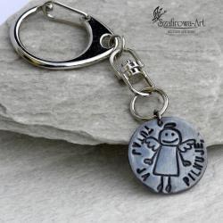 anioł,klucze,przezent,ciekawy,elegancki,srebro - Breloki - Biżuteria