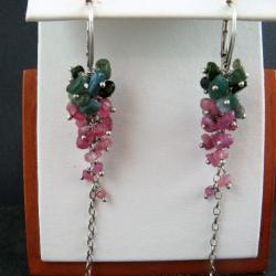 turmalinowe,barwne - Kolczyki - Biżuteria